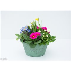 Planter Outdoor Peppermint Round 25cm x 1