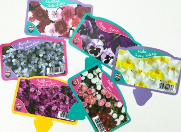 New colourful labels for our pack bedding